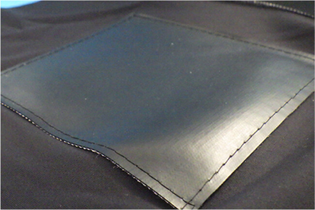 image:Rubber electrode made from urethan-based conductive rubber and aramid fiber